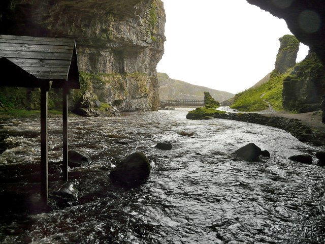 Allt Smoo in flood