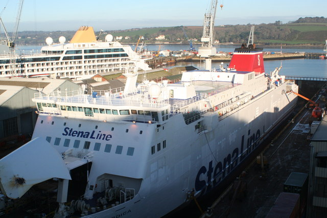 A busy time at Falmouth Docks