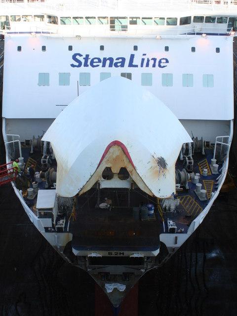 The Stena Line car ferry 'Stena Nordica' in Falmouth Docks
