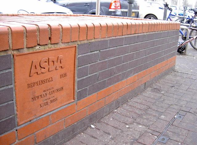 Commemorative stone among the brickwork