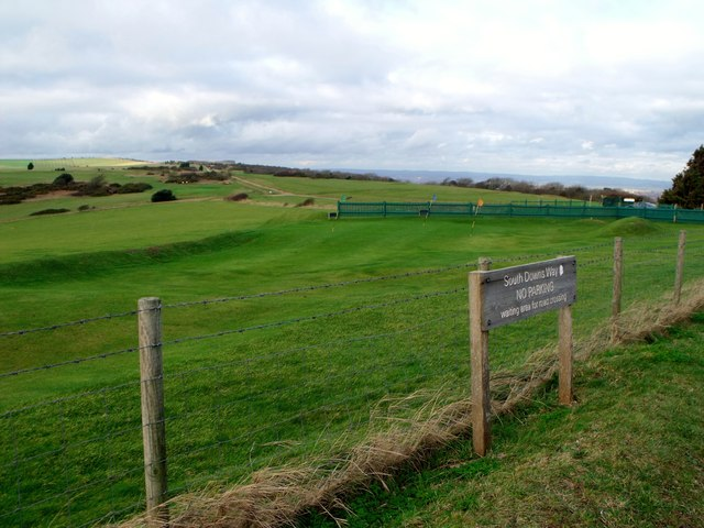 Eastbourne Downs Golf Club course