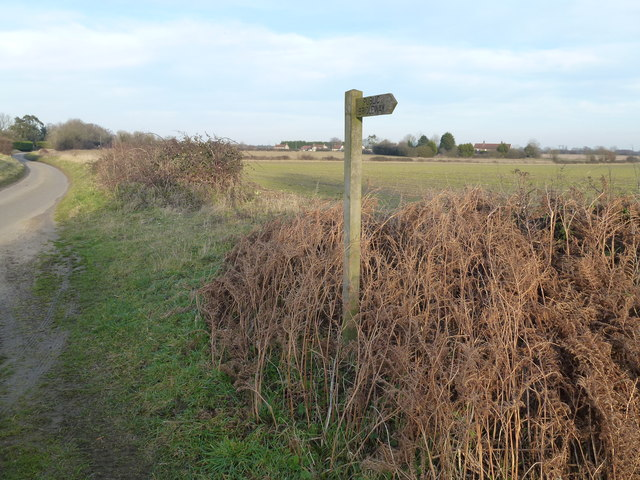 Bridleway sign, Drunken Drove, Great Massingham