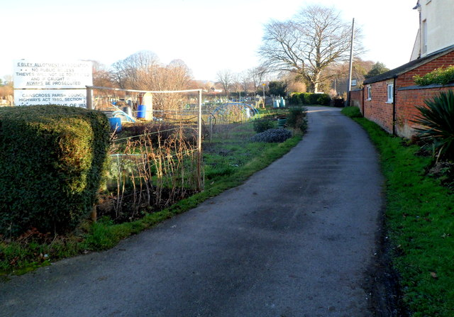 Entrance to Ebley Allotments