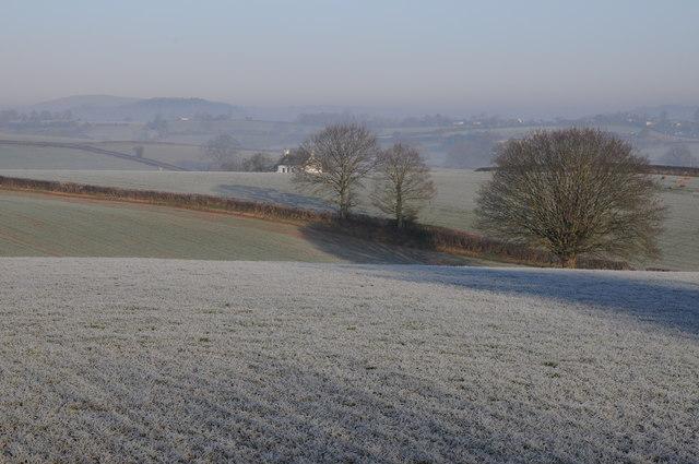 Farmland near the Monnow valley
