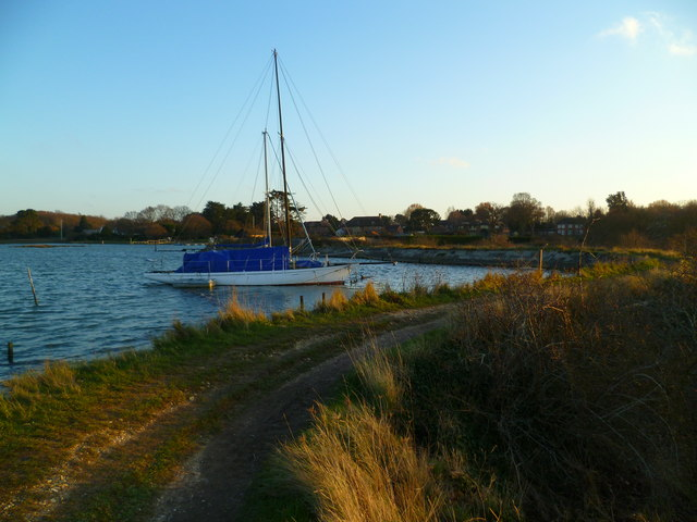 Yacht at mooring near West Itchenor