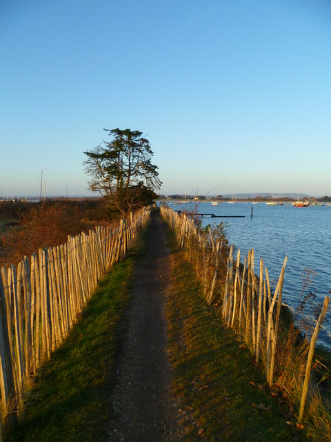 Footpath by the Chichester Channel