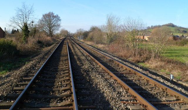 Railway lines west of Ebley level crossing