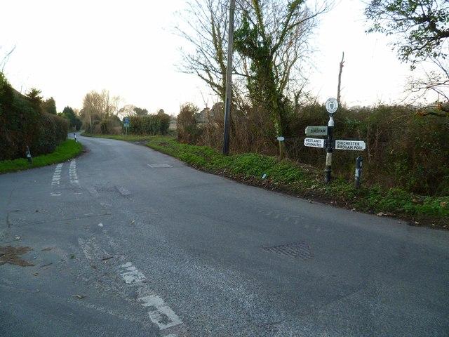Road junction at Birdham