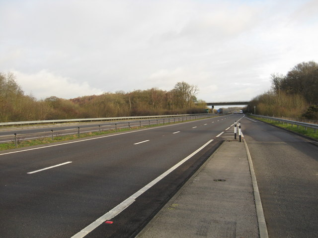 Looking back on the A34, Newbury by-pass