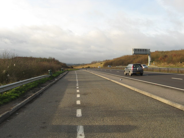 Lay-by on the Newbury by-pass, looking south-east