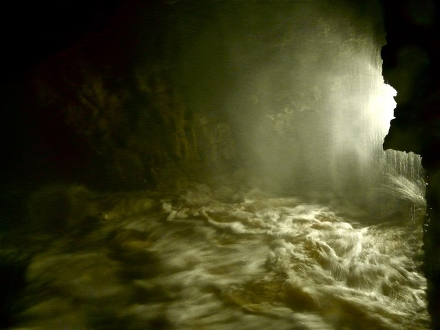Smoo cave in flood