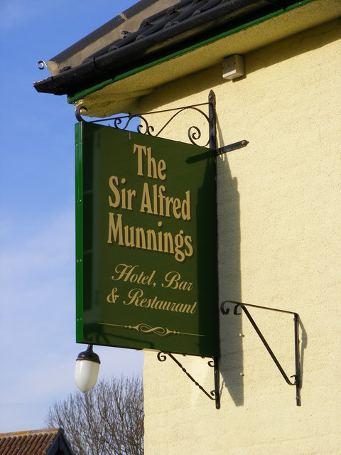 Sir Alfred Munnings Hotel sign