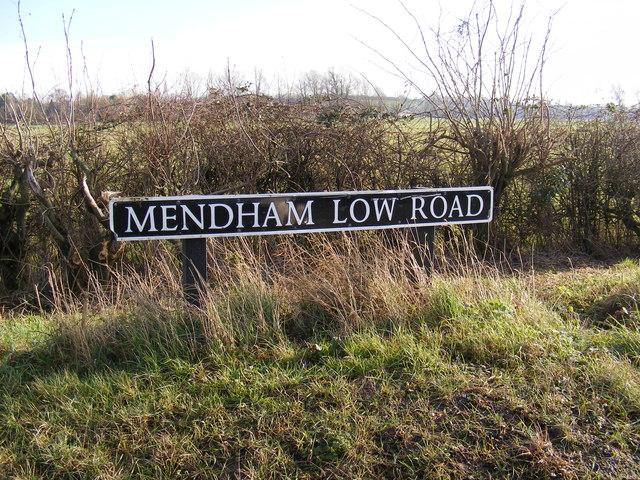 Mendham Low Road sign