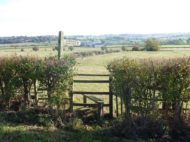 Path leaves road