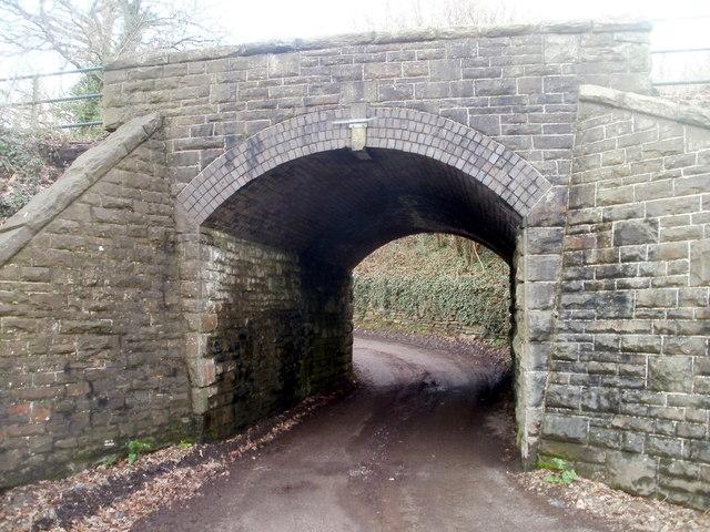 Southern side of a former railway bridge, Machen