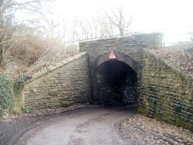 Northern side of a former railway bridge, Machen