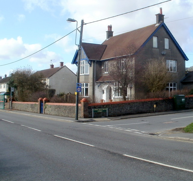 Corner of Lower Glyn Gwyn Street and Newport Road, Trethomas