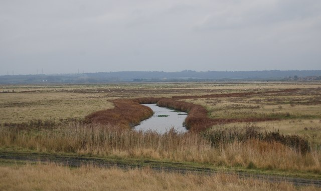A main drainage channel, Cliffe Marshes