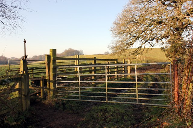 Gate and stile on the Delamere Way