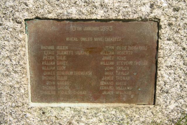 Wheal Owles Mine Disaster memorial