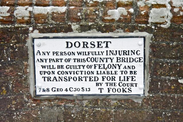 Dorset Bridge Sign