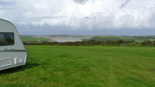 Camel River and estuary with Padstow beyond