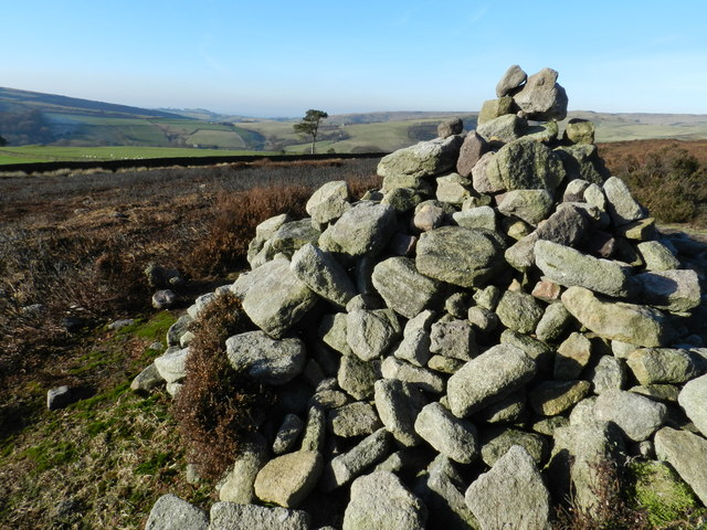 Cairn by path over Middle Moor