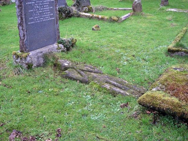 Ancient grave marker, Kirkton Churchyard