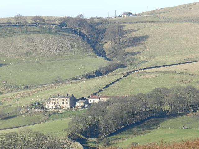 Farm and fields north of Hayfield