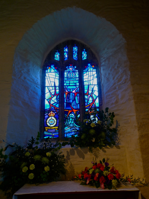 RAF Coastal Command Memorial window at St Eval