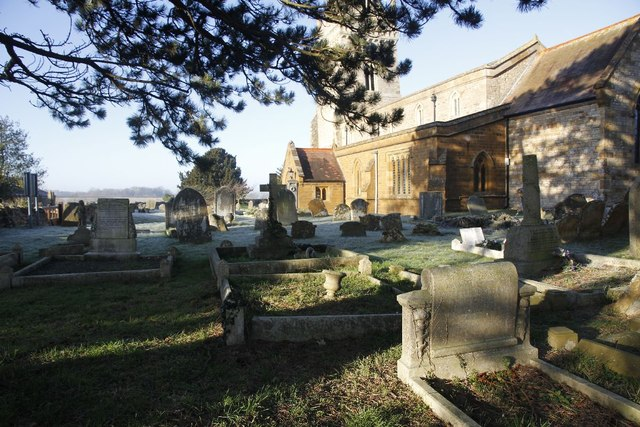 Churchyard by the porch