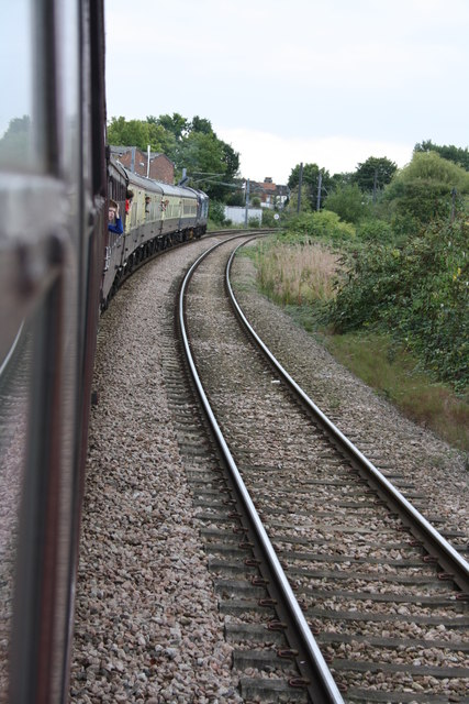 Charter train approaches Acton Wells Junction