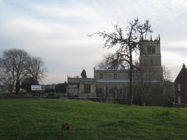 St. Nicholas church seen from Peel Hill