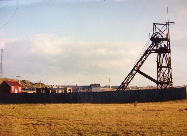 Lead Mine headframe at Pen y Bryn Shaft 1986