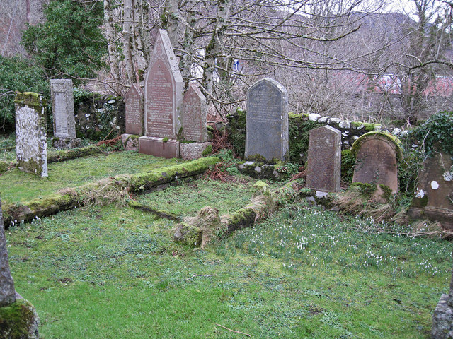 Quiet corner of Kirkton churchyard