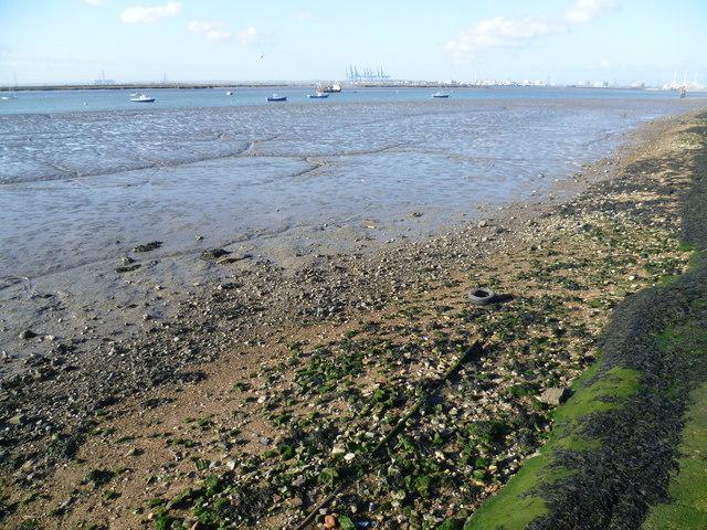 Estuary mud at Queenborough