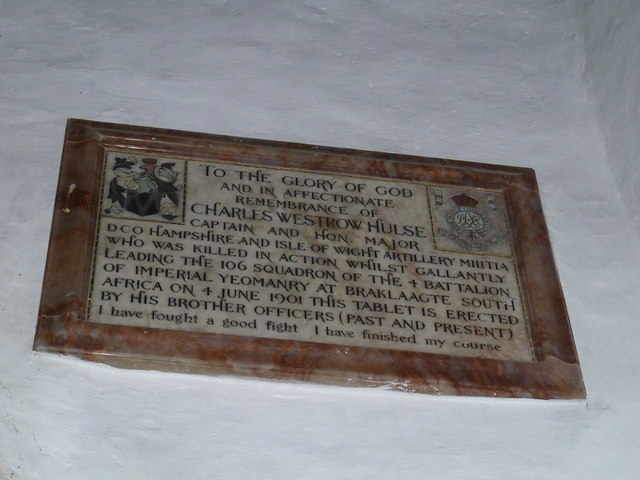 St Mary's Church, Breamore- memorial (a)