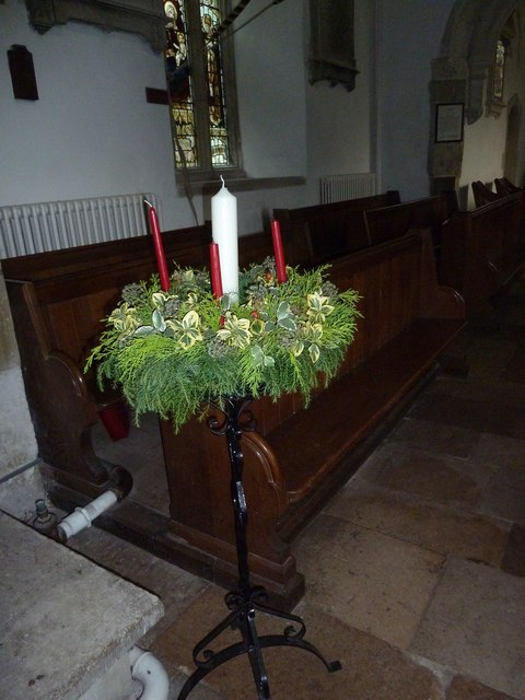 St Mary's Church, Breamore- advent crown