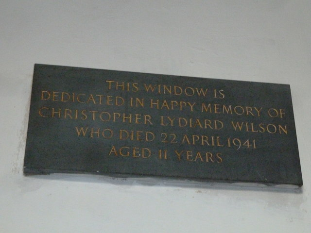 St Mary's Church, Breamore- memorial (b)