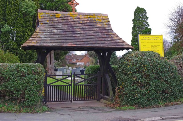 Christ Church (3) - lychgate, Church Lane, Lower Broadheath