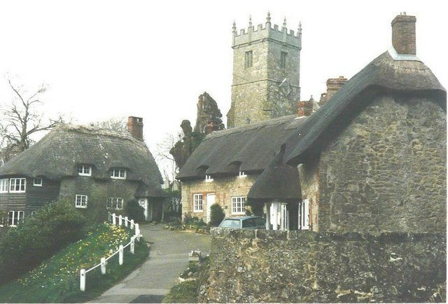 All Saints church, Godshill in 1988