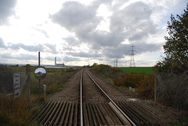 Hundred of Hoo Line at Stoke Crossing