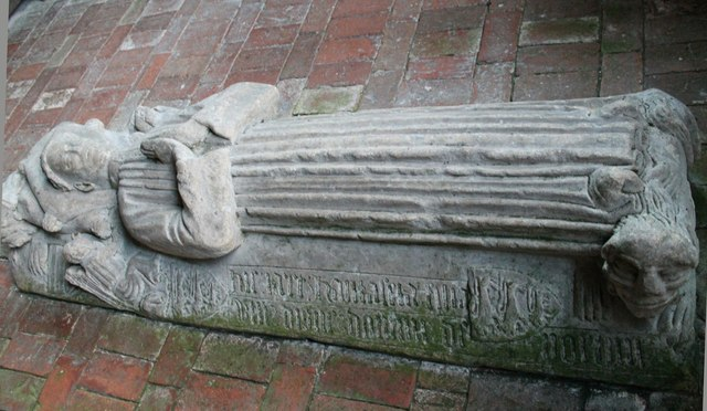 Effigy of Hautacia, St Peter's church, Norton Disney