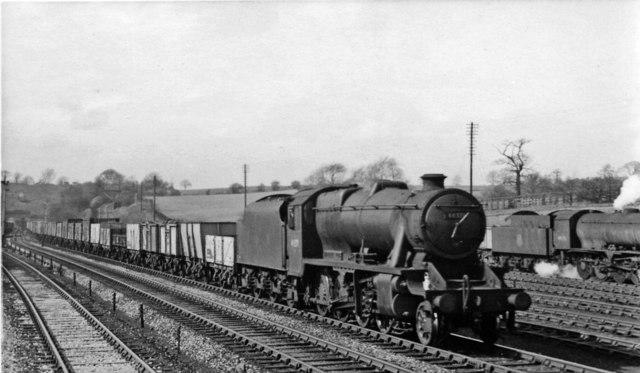 Up coal train at Cotes Park Sidings, Erewash Valley line