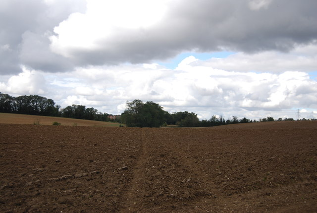 Bridleway across a ploughed field