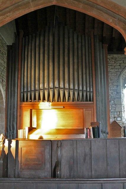 Organ in St Peter's church, Norton Disney
