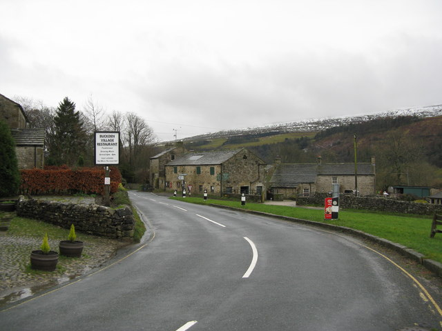Buckden, Yorkshire.  View south along the B6160