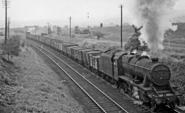 Up coal train at Killamarsh West