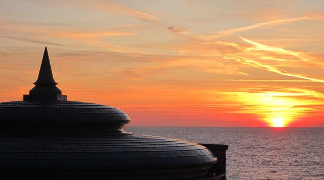 Sunrise over Eastbourne bandstand
