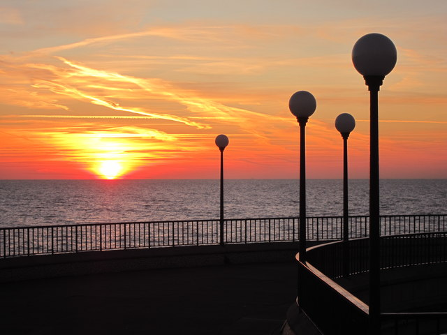Sunrise over Eastbourne bandstand